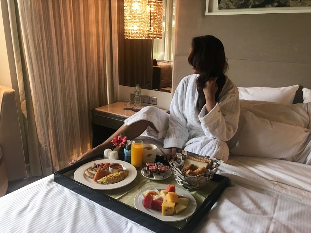 Breakfast in Bed, Westin Langkawi, Travelling Boots